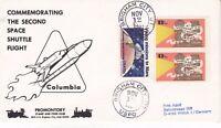12 NOVEMBER 1981 COLUMBIA SPACE SHUTTLE STS 2 COVER BINGHAM CITY USPO CDS