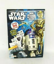 Star Wars Mini Sticker Activity Book 90 stickers 12 full color scenes, movie