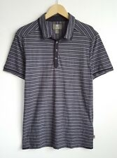 TIMBERLAND MENS GREY/BLACK STRIPE POLO SHIRT SIZE S SLIM FIT