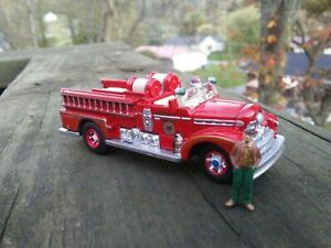 CUSTOM HO 1/87 SCALE SEAGRAVE FIRE  ENGINE TRUCK VERY DETAILED LOOK AT PICTURES