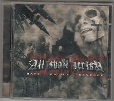 ALL SHALL PERISH - hate malice revenge CD