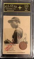 Frank Robinson Authenticated Ink Canadian Coin Card Dealer Sample */5 Graded 10