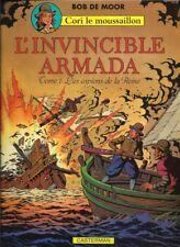 BOB DE MOOR L'INVINCIBLE ARMADA 1 - LES ESPIONS DE LA REINE + DESSIN ORIGINAL