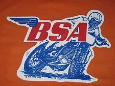 1970's BSA FLAT TRACKER Iron On Vintage Flat Track A50 B50 500 A65 650 A75 750