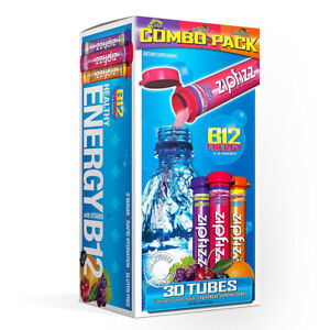 Zipfizz Healthy Energy Drink Mix, Variety Pack, 30 Tubes Combo Pack Exp: 04/22