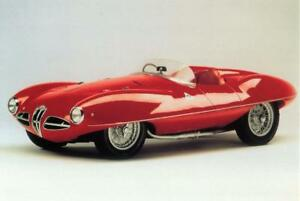 Print.  Red 1952 Alfa Romeo 1900 C52 Disco Volante