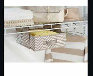 InterDesign Chevron Soft Closet Storage - Hanging Shelf, Taupe/Natural