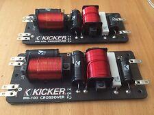KICKER MB-100 COPPIA CROSSOVER PASSIVO MEDIO BASSO INTROVABILE MADE IN USA