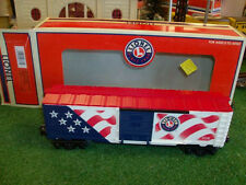 LIONEL TRAINS NO. 26777 BC FLAG CAR WITH LIGHTS - VERY NICE