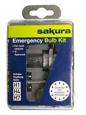 Sakura Emergency Travel Car Bulb Kit - H1,H4 & H7 Plus More Bulbs and Car Fuses