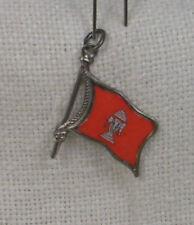 Vintage REU Sterling/Enamel Laos Flag Shaped Bracelet Charm - NOS