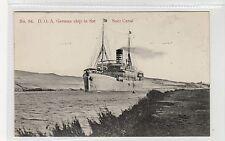 DEUTSCH-OST-AFRIKA LINE SHIP IN THE SUEZ CANAL: Egypt postcard (C27165)