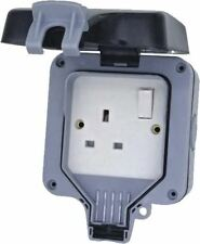 Weatherproof IP66 Outdoor 13A Switched Single Socket 1G Twin Storm Jet Wash WP21