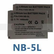 2 Pcs NB-5L NB5L Battery Pack for Canon PowerShot S100 S110 SX210 IS SX230 HS