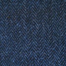 Medium Blue and Dark Blue Herringbone Harris Tweed - 2.50 Mtrs