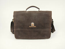 New COLOMBIAN LEATHER Slim Flapover Briefcase Messenger Bag