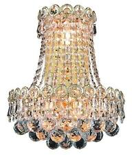 Elegant Lighting V1901W12Sg, 3-Light Gold Plated Swarovski Crystal Wall Scone