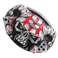Novelty Vintage Western Belt Buckle 3D Skull Head Cowboy Gothic Punk Rock