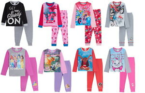 Girls Luxury Character Pyjamas Infants Big Kids 2 Piece Pj Set Jammies Gift Size