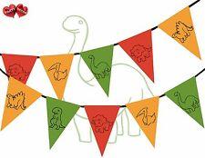 Jura Sammlung - Dinosaurier Sortiert Fahnentuch Banner 15 Flaggen Süß Dinosaur