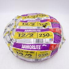 Armorlite 250ft 12/2 Solid Aluminum MC Cable Wire Wet Hazard Condition 68580055