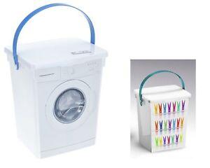 Waschpulverbox Waschmittelbox Waschmittelbehälter Wäscheklammerbox