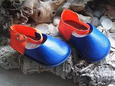 Große Puppenschuhe Stolle blau/ orange Gr.13/70 - 10,5 cm lang