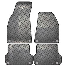 Audi A4 B6 B7 2000 - 2008 Tailored 4 Piece Rubber Car Mat Set 8 Clips