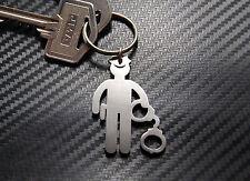 AMERICAN POLICE MAN Law Handcuffs Truncheon Keyring Keychain Key Fob cops 5 0 Po