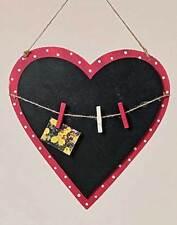 Memotafel Herz MDF rot Schreibtafel Tafel Memoboard Höhe 31 cm