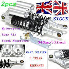 One Pair 340mm 13'' Universal Motorcycle Rear Air Shock Absorbers Suspension UK