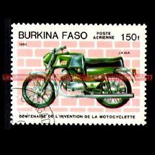 JAWA 250 Bizon Twin - BURKINA FASO Moto Timbre Poste Stamp
