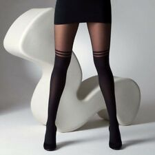 Sexy Stockings Pantyhose Mock Over The Knee Double Stripe Sheer Tights Socks New