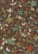 """2x3 Sphinx Vines Flowers Casual Brown 967X6 Area Rug - Approx 1' 9"""" x 3' 9"""""""