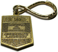 VTG Home Savings and Loan Association Keychain Gold-tone