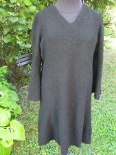 Robe laine noire ancienne(1930-1950) T 40