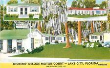 1940s Dickens Deluxe Motor Court Lake City Florida roadside linen MWM 7326