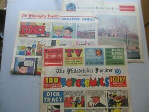 Philadelphia Inquirer COMPLETE Comics Section from February 4, 1968 Rotogravure!