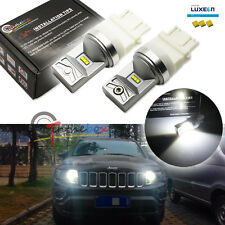 2 White LED Bulbs For Chevy GMC Dodge Jeep Daytime Running Lights Philips Luxeon