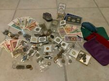 Us and World Coins & Paper Money Grab bag Silver Bu Ancient Fossils
