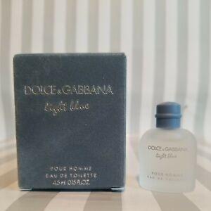 Dolce & Gabbana Light Blue Pour Homme Men's Eau De Toilette. 0.15 fl oz. New.