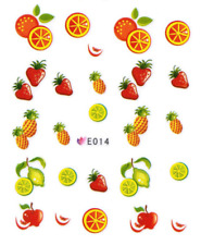 Nail Art Sticker Water Decals Transfer Stickers Juicy Fruits (E014)
