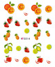 Nail Art  3D Sticker Decals Transfer Stickers Juicy Fruits (E014)