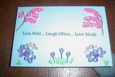 Handcrafted Paper Quill Plaque with Stand-New-Live Well