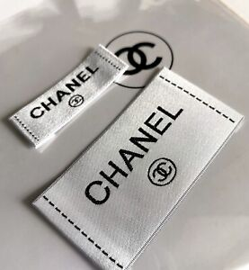 2 Chanel Replacement Clothing Label Tag Garment Sewing Accessories Repair Sewing