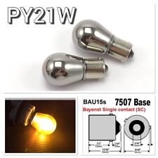 Amber BAU15S 7507 PY21W Chrome Bulb REAR SIGNAL Light 150 degree For BMW MINI