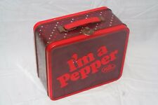"""Dr. Pepper  """"I'm a Pepper"""" Tin Lunch Box 2010 Advertising - Metal Pail w/ stars"""
