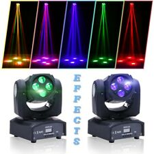 2X U`king 90W Rgbw Mini Moving Head Stage Beam Lighting 4in1 Led Party Disco Dj