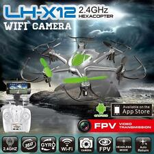 (NEW) 2018 2.4GHz 6CH 6Axis GYRO Hexacopter FPV w/ Camera iOS/Android App Drone