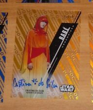 Topps 2016 STAR WARS High Tek Autograph Card RABE CRISTINA DA 45/50 Carte RARE